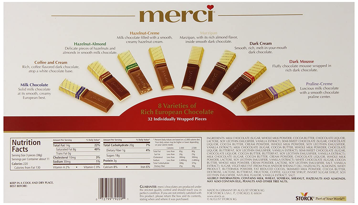 Amazon.com : Merci Finest Assortment of European Chocolates 14.1 ...