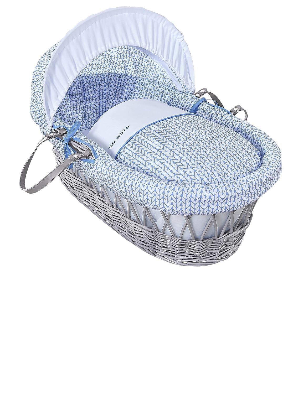 Clair de Lune orzo Bébé grigio vimini Inc. Biancheria, materasso e cappuccio regolabile (blu) CL5771GBE