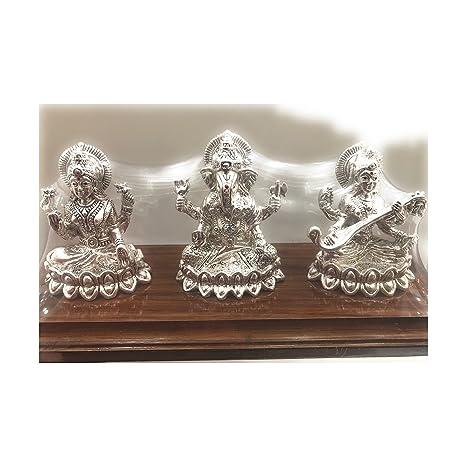 3107f2d5946d Buy Pushparaj Jewellers 999 Pure Silver Hollow Laxmi