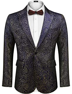 Coolred-Men Slim Fitted Nightclub Style Sequin Premium Select Blazer Coats