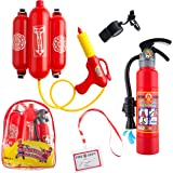 5 Piece Premium Firefighter Water Gun Toy Set. For Outdoors, Pools, Summer.Beach, and Bath.Includes BAG