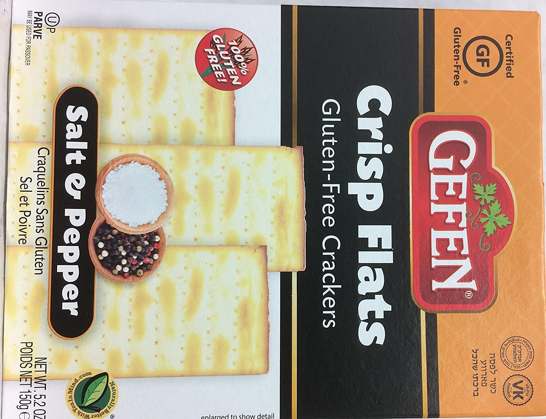 Gefen Crisp Flats Gluten-Free Crackers Kosher For Passover 5.2 oz. Pack of 3.