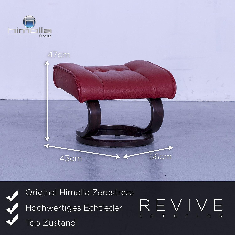 Elegant Himolla Zerostress Referenz Von Designer Leder Relax Sessel Garnitur Rot Einsitzer