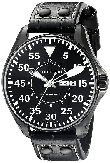 Hamilton H64785835 - Reloj, correa de cuero