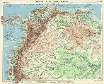 Amazon world atlas 1957 venezuela colombia ecuador plate world atlas 1957 venezuela colombia ecuador plate 116 vol v gumiabroncs Image collections