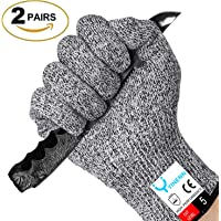 Yinenn Cut Resistant Gloves with High Performance Level 5 Hand Protection (2 Pairs)