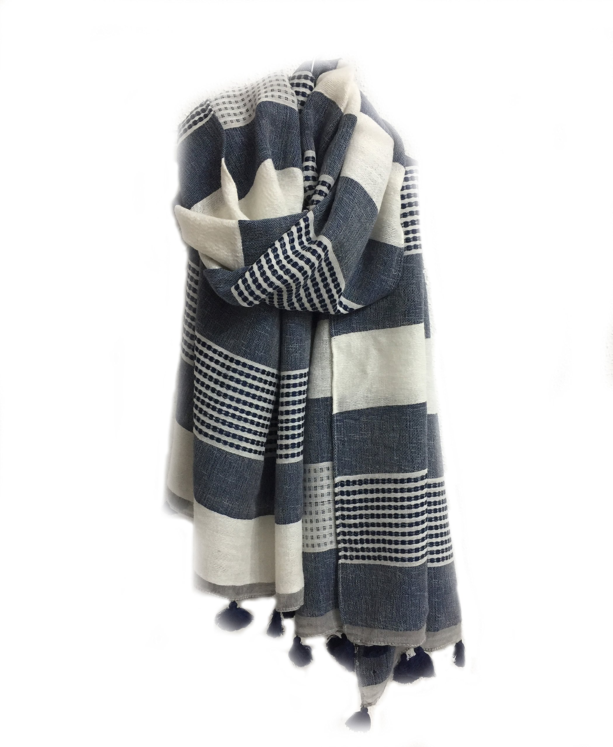 Scarfs for Women - All Weather Stripes Fashion Scarves Best for Summer and Spring Lightweight Soft Scarf shawl for Women and Girls