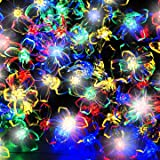 100 Multi-colour LED Blossom Solar Fairy Lights / Solar String Lights by SPV Lights: The Solar Lights & Lighting Specialists (Free 2 Year Warranty Included)
