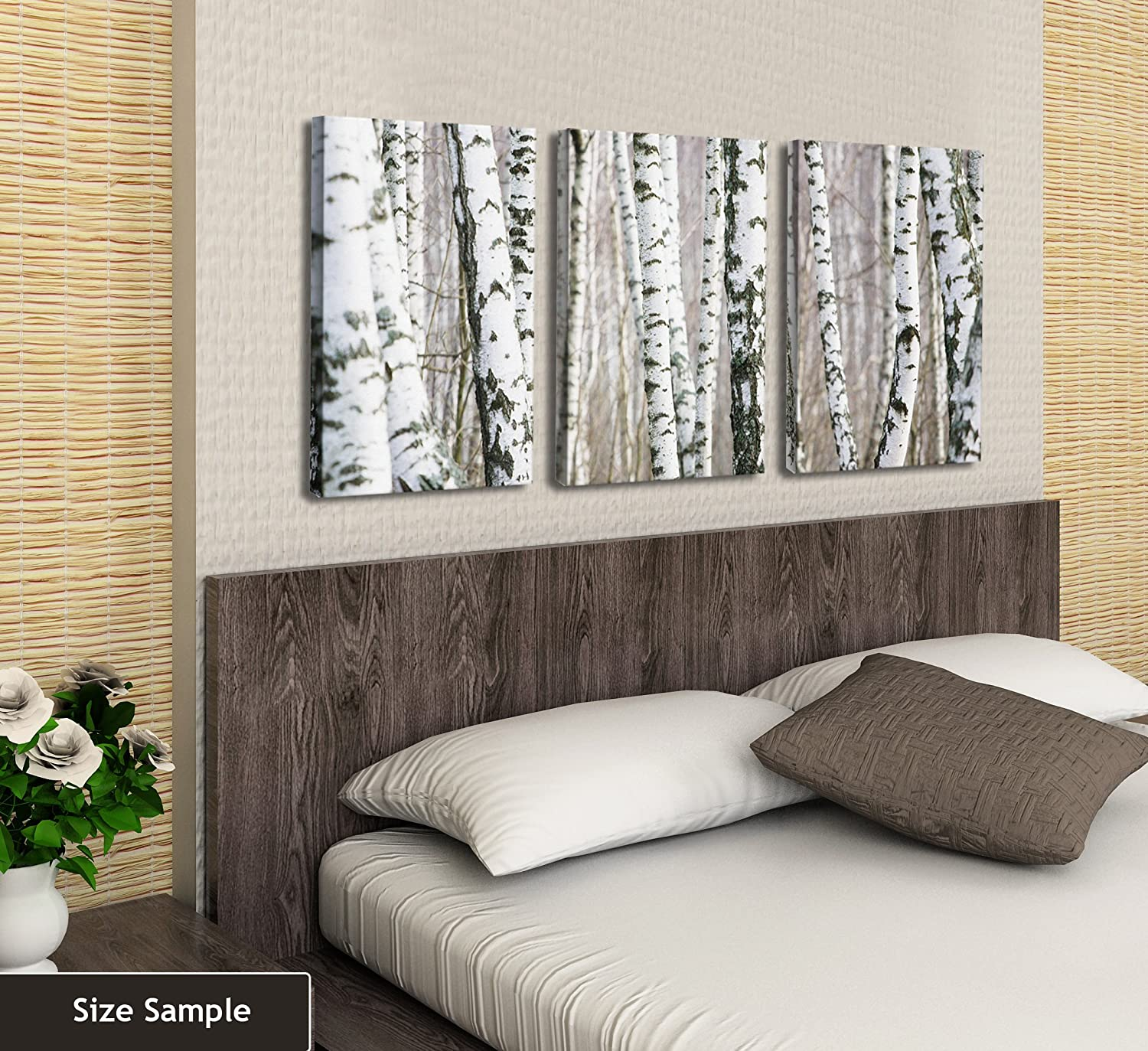 JP London CNVT4019 Gallery Wrap Canvas 2In Thick Heavyweight Canvas Triptych Credit River Autumn Nature Stream Forest 3 Panel Wall Art At 54In Wide By 24In High
