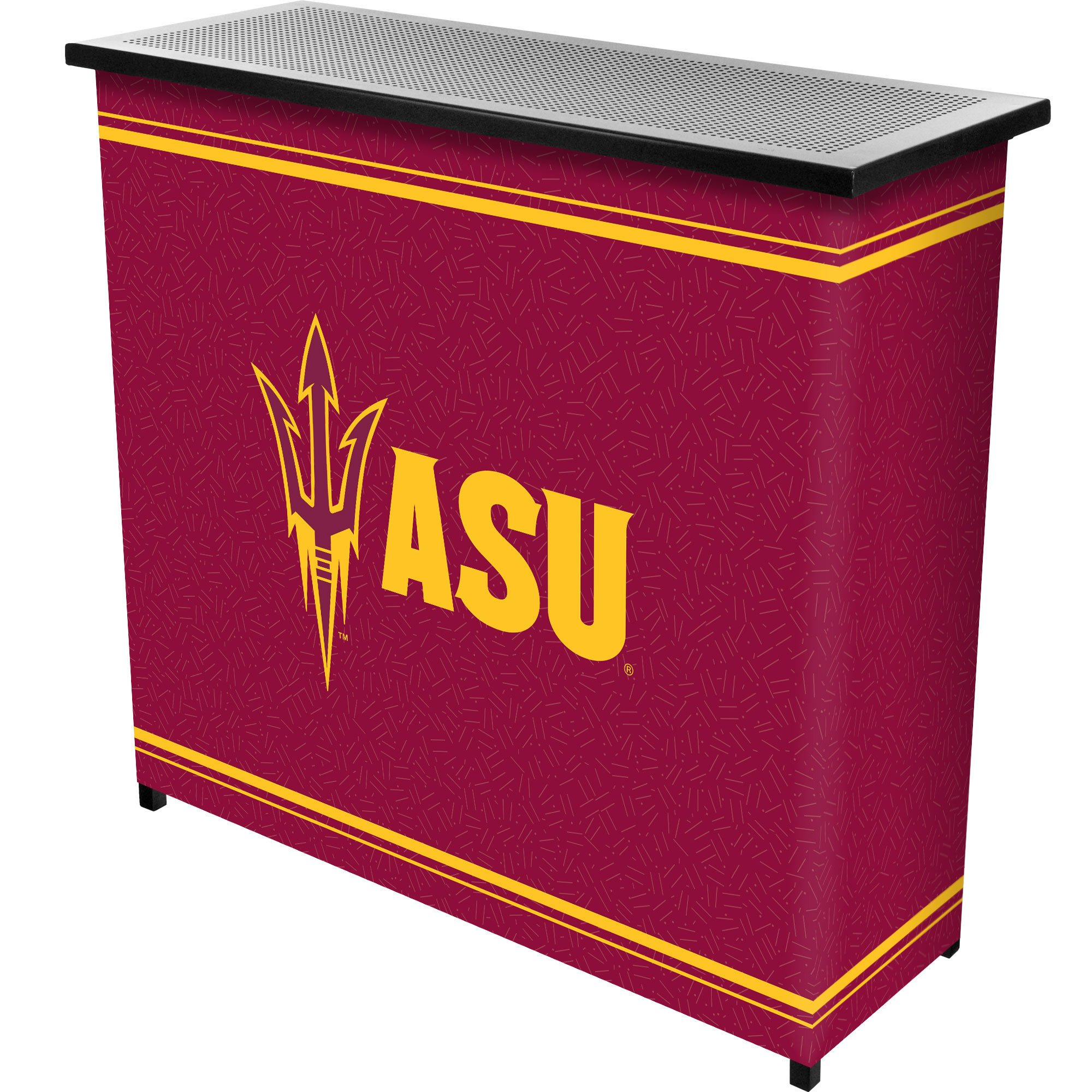 NCAA Arizona State University Two Shelf Portable Bar with Case by Trademark Gameroom