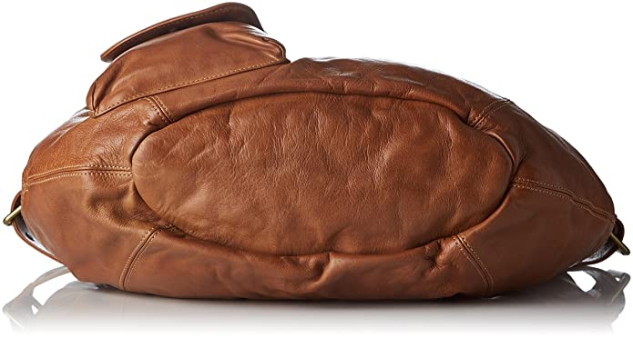 Damen Fisherboy Handtasche, Braun (Camel), 13x33x47 cm Ikks