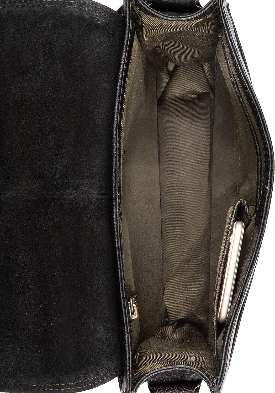LEABAGS London borsa a tracolla vintage in vera pelle di bufalo Abyssviolet
