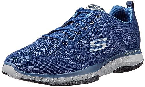 Skechers Burst TR-Coram, Zapatillas para Hombre, Azul (NVY), 45 EU