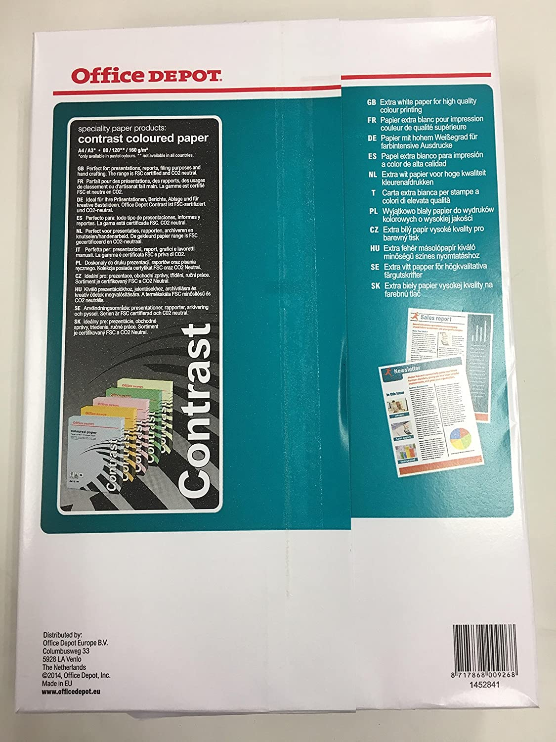 Color printing office depot - Office Depot Colour Printing Paper A4 500 Sheets 90gsm Amazon Co Uk Office Products