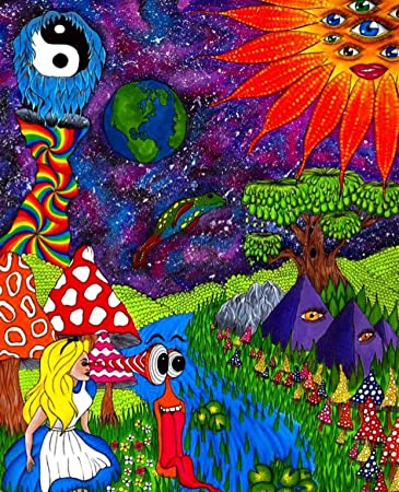 Amazon Alice In Wonderland Trippy Outer Space Poster Posters Prints