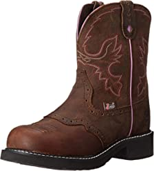Justin Boots Womens Gypsy Collection Round-Toe Western Boot - 8 Inch