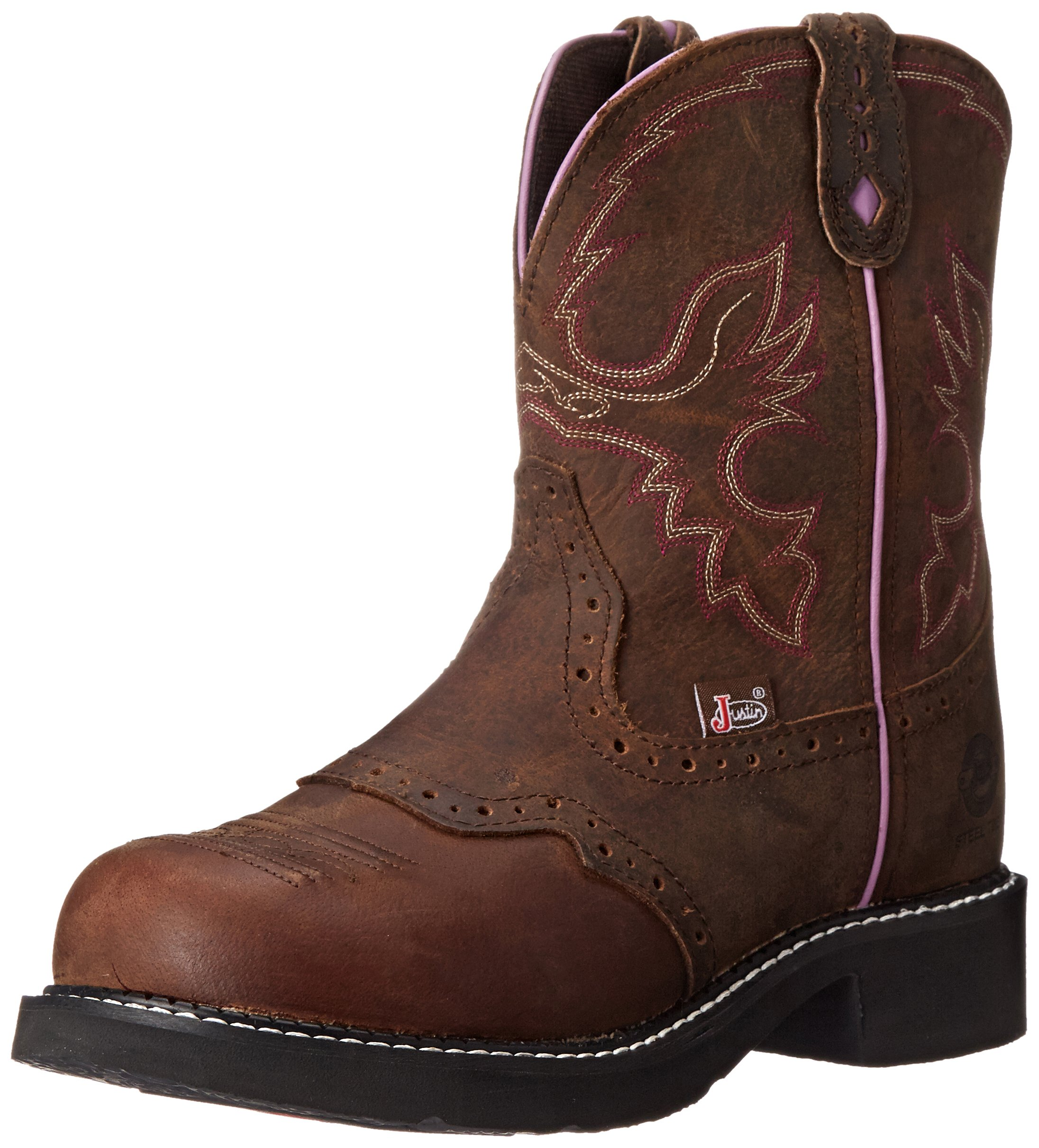 Justin Boots Women's Gypsy Collection 8'' Steel Toe,Aged Bark,6B by Justin Boots (Image #1)