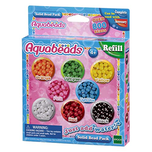 Aquabeads-79168 Solid Bead Pack, (Epoch 79168)