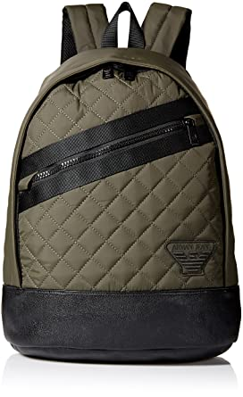 17274df4320f Amazon.com  Armani Jeans Men s Quilted Fabric Backpack  Clothing