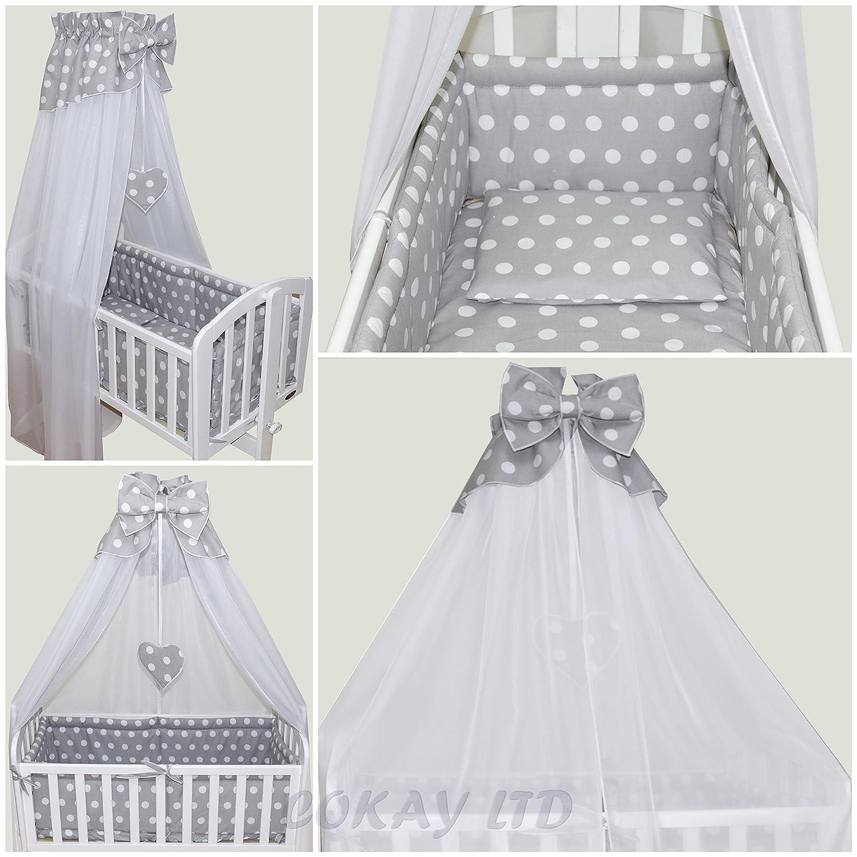 couette Cokay Parure de berceau de 10//él/éments : tour de lit baldaquin et voilage drap