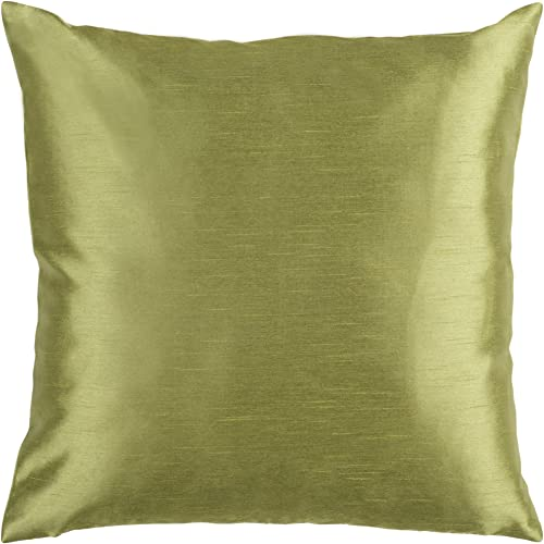 Artistic Weavers HH-043 Hand Crafted 100 Polyester Green 18 x 18 Solid Decorative Pillow
