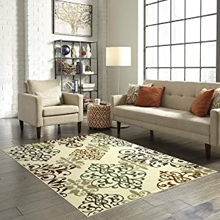product image for Maples Rugs Area Rug - Eleanor 5 x 7 Non Slip Large Rugs [Made in USA] for Living Room, Bedroom, and Dining Room, Multi
