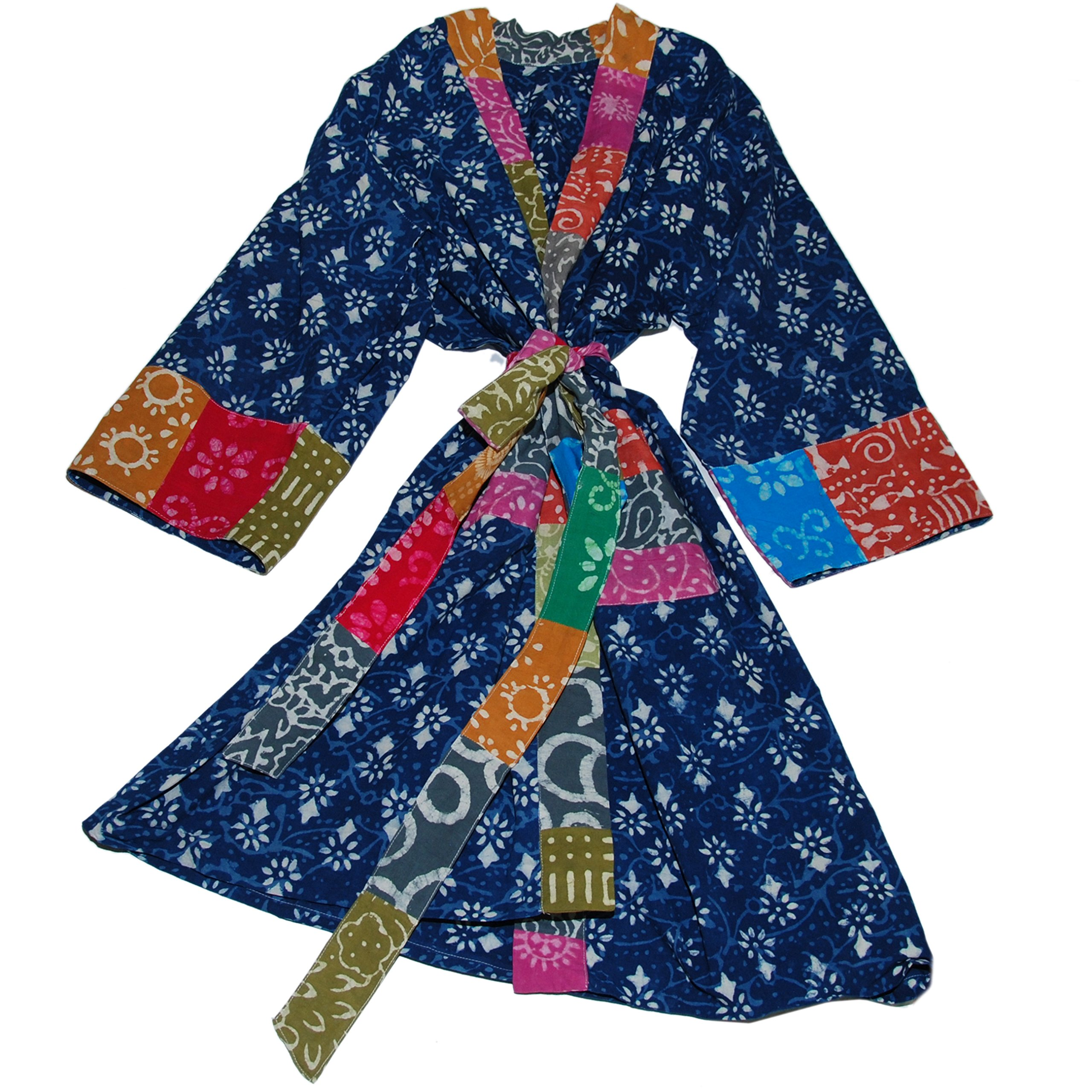 642bd44e3 Art Studio Company Batik Block Print Cotton Robe Long