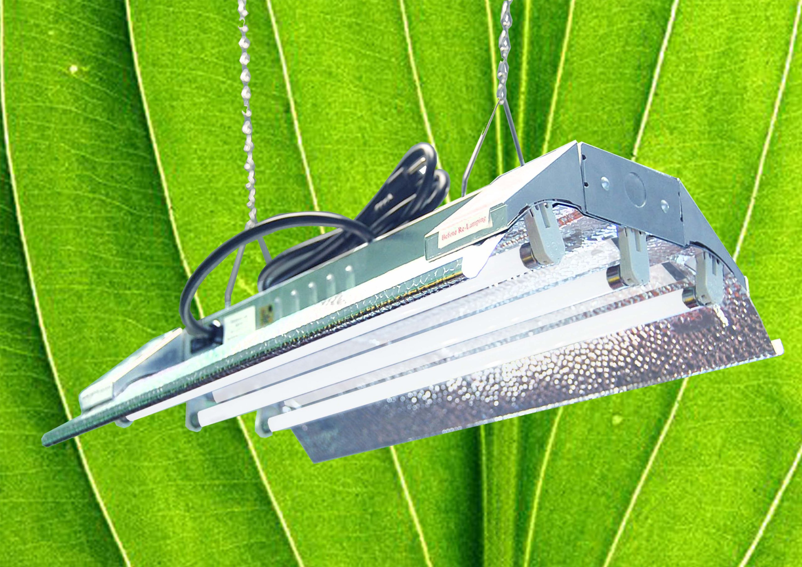 DuroLux T5 HO Indoor Grow Light - 2 FT 3 Tubes - DL823 Fluorescent Hydroponic Fixture Bloom Veg Daisy Chain with Bulbs