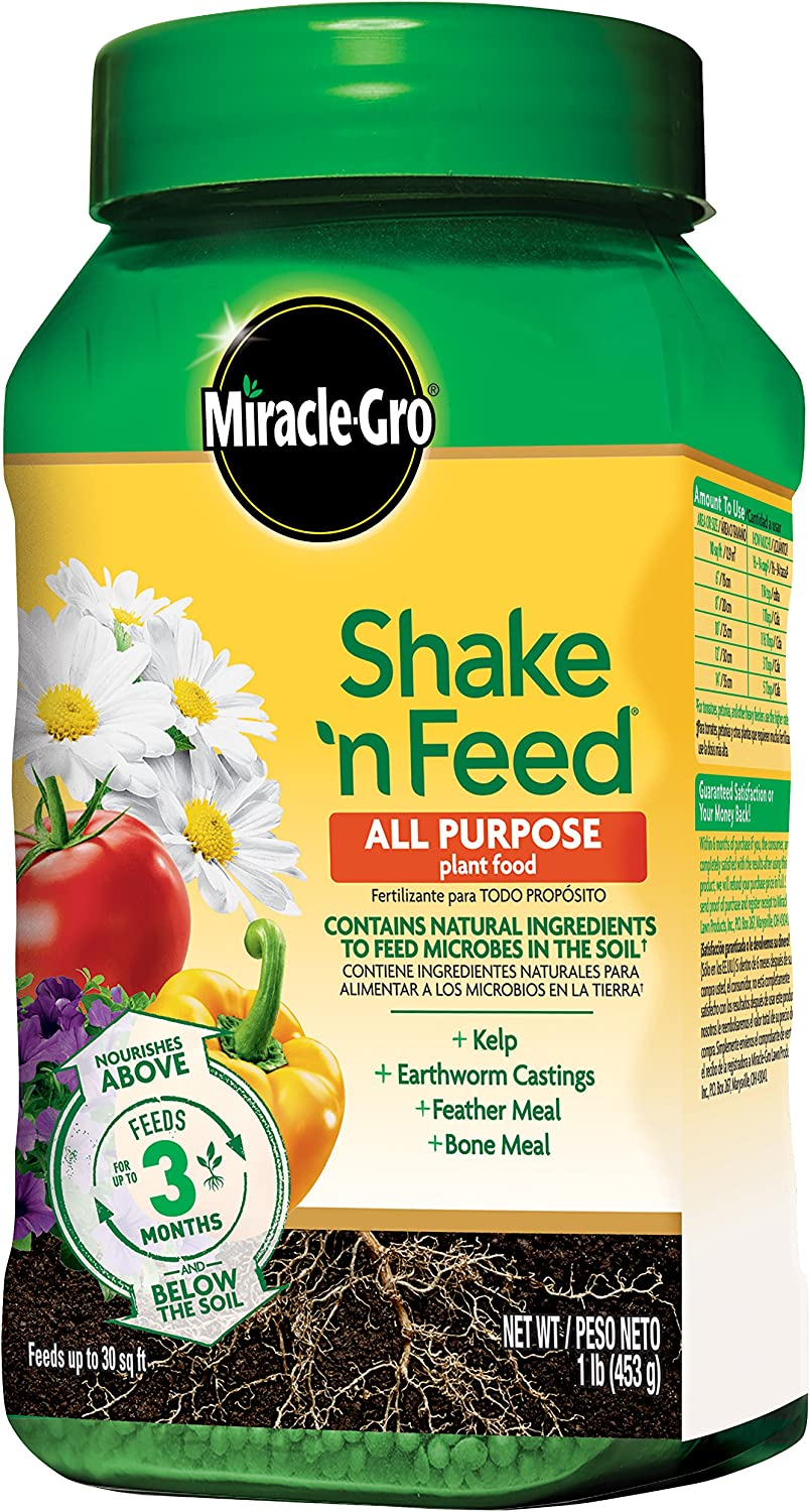 Miracle-Gro 3001810 Shake 'N Feed All Purpose Continuous Release Plant Food