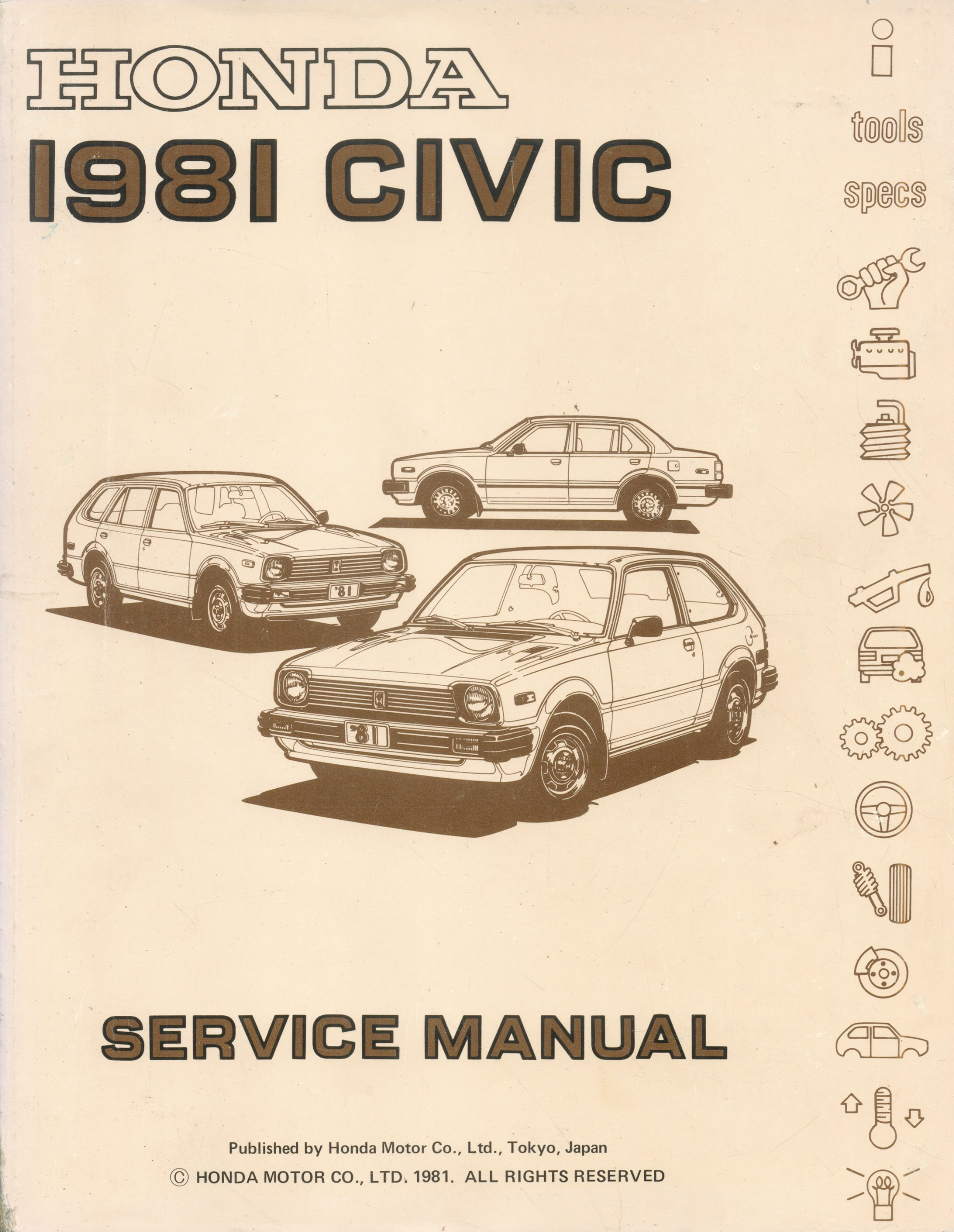 1981 Honda Civic Service Manual, Honda
