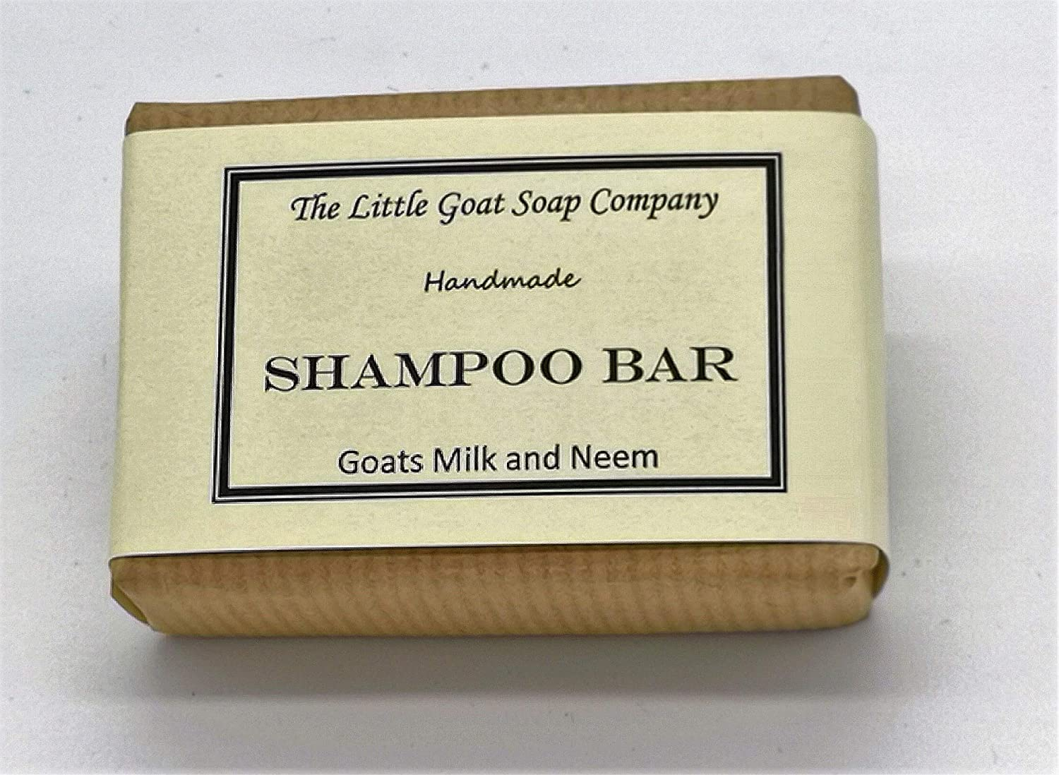 1 x Shampoo Bar - Goats Milk and Neem Oil 100G. Eczema, Psoriasis, Seborrhoeic Dermatitis. The Little Goat Soap Company LGSC-Sh1