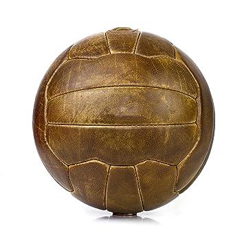 We Print Balls - Balón de fútbol de Piel Vintage Cosido a Mano ...