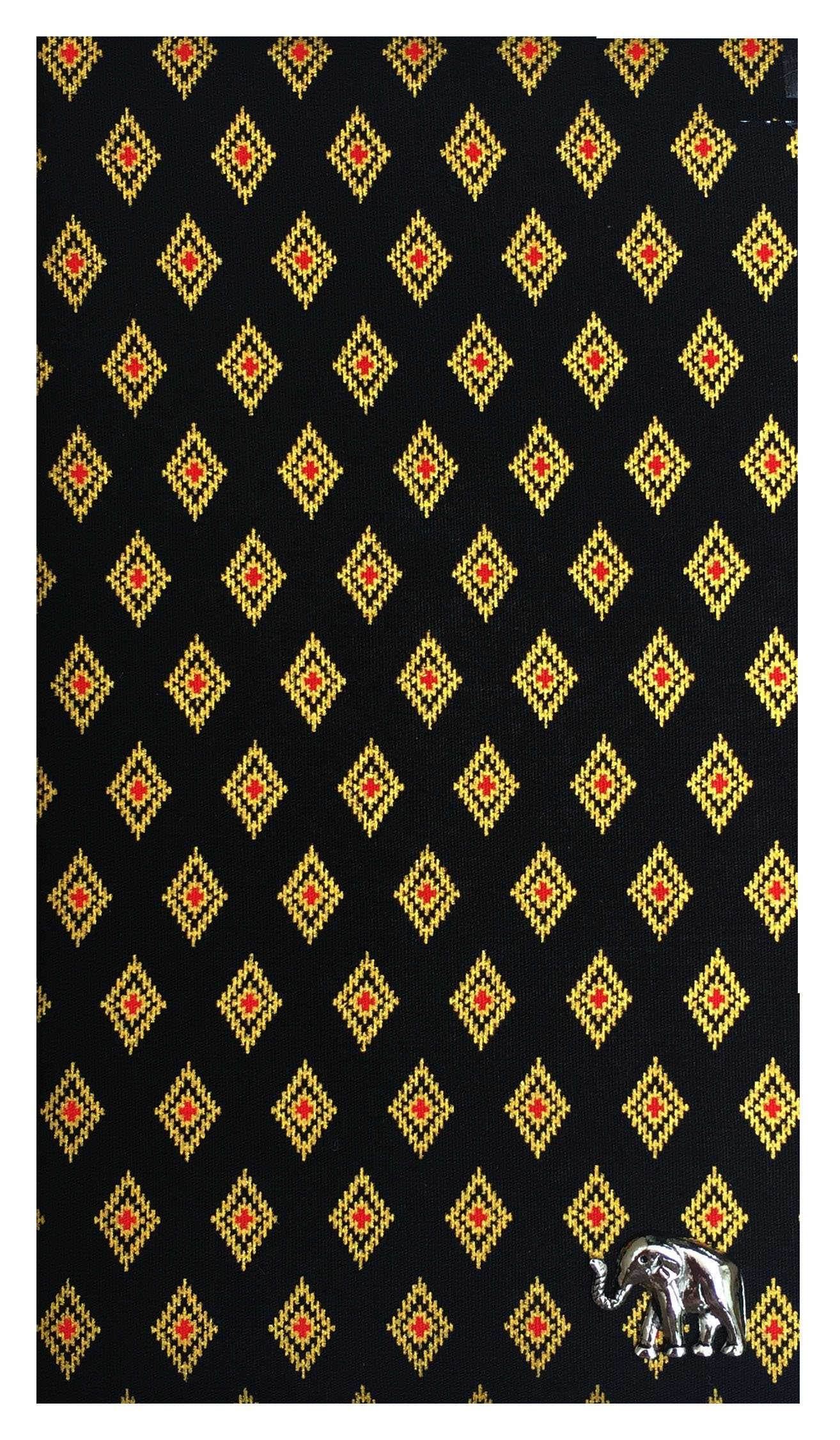 Check Registers Black & Gold Thai Designed Cotton Guest Check Presenter, Check Book Holder for Restaurant, Waitstaff Organizer, Server Book for Waiters,Check Accessories (With Plastic Cover)