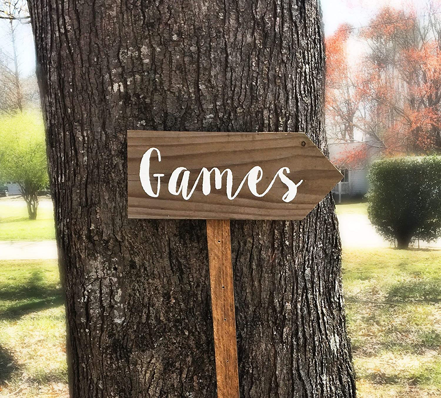 Games Sign, Yard Signs With Stakes, Lawn Games Sign Wedding, Wood Lawn Sign, Wood Sign Decor
