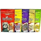 Marshall Bandits Premium Ferret Treats Variety Pack - 5 Flavors (Chicken, Raisin, Peanut Butter, Banana, and Meaty Bacon…