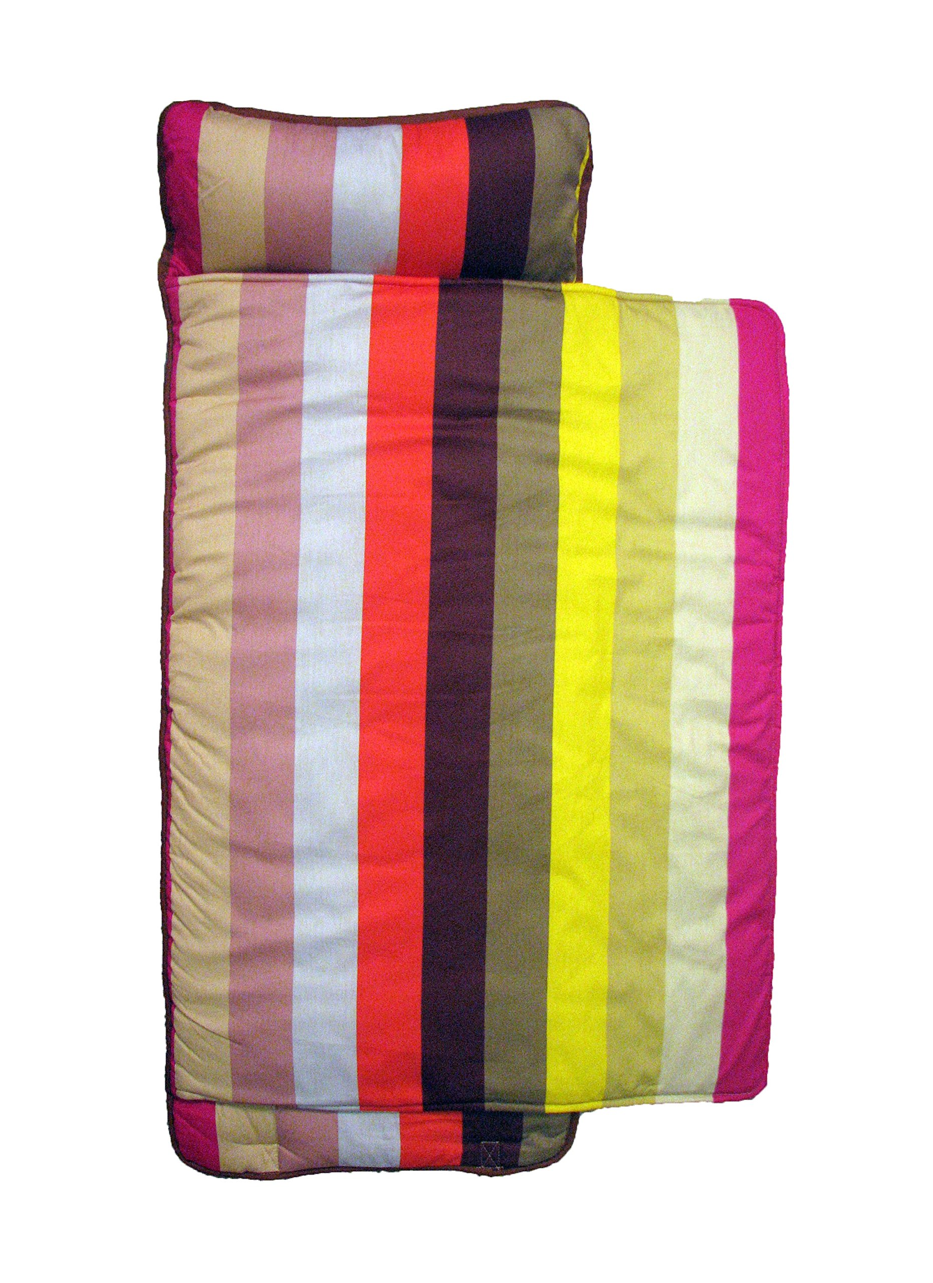 SoHo New York Stripe nap mat for toddler preschool day care with pillow lightweight rolled nap mats