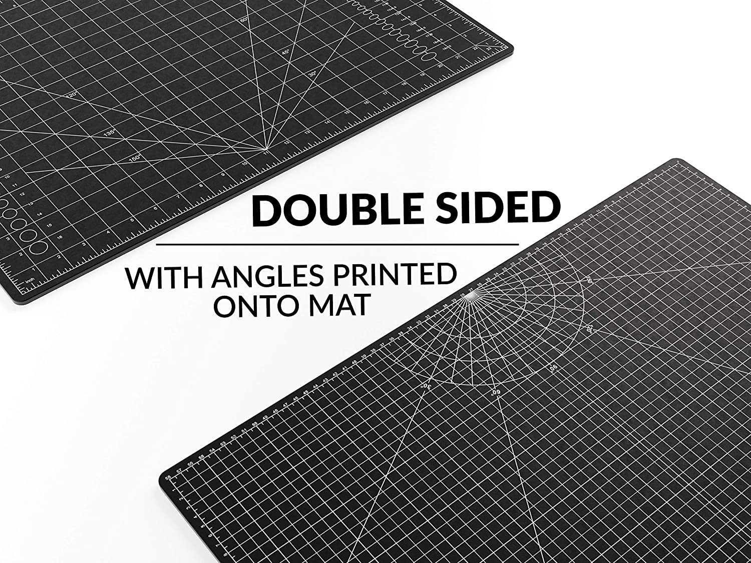 3 Layer Quality PVC Construction A2 Imperial and Metric Grid Lines 18 Inches by 24 inches and Crafts Sewing XNM Creations Premium Self Healing Cutting Mat Perfect for Cutting Dual Sided
