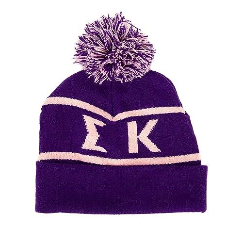 71b7e7a5409 Amazon.com   Sigma Kappa Sorority Letter Winter Beanie Hat Greek ...