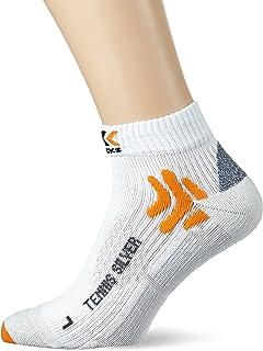 X-Socks Funktionssocken Tennis Silver Low Cut, Calze Funzionali Unisex Adulto X0T0134