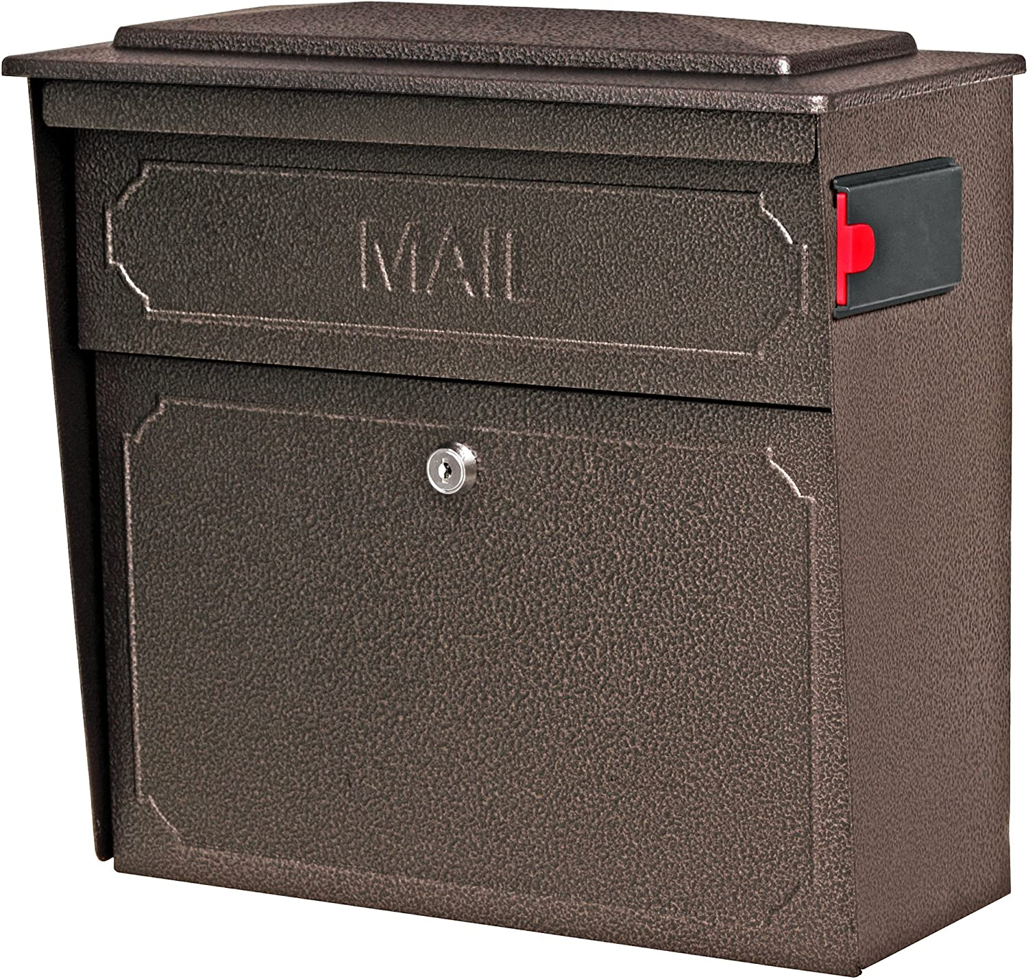 Mail Boss 7174 Townhouse, Bronze Wall Mount Decorative Locking Security Mailbox For Home