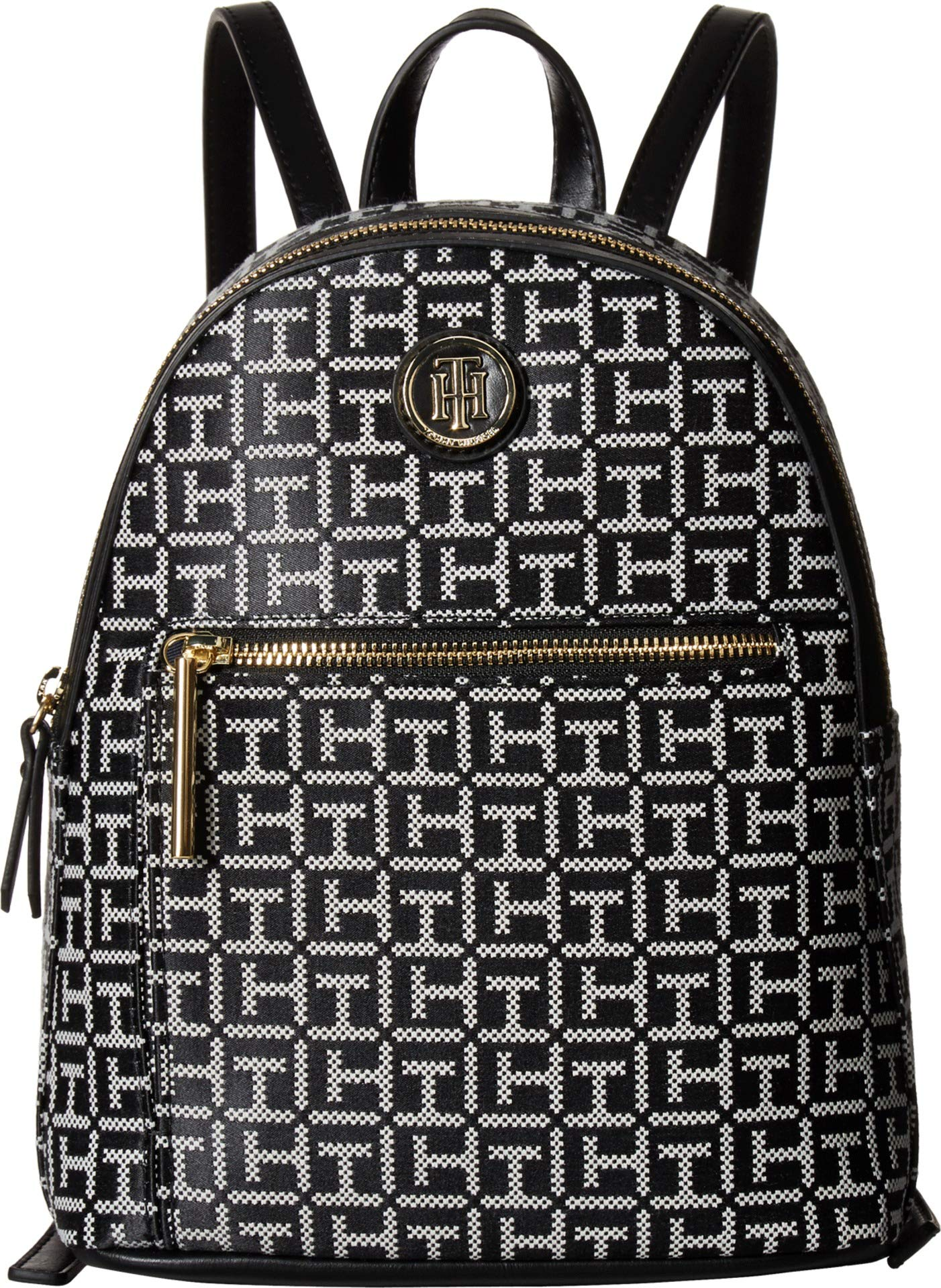 Tommy Hilfiger Women's Geneva Backpack Black/White One Size by Tommy Hilfiger