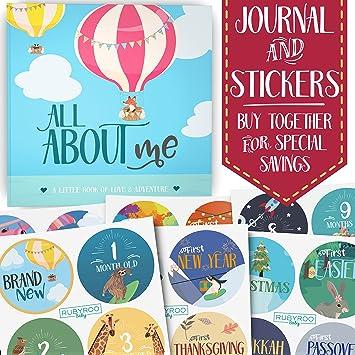 Amazon First Year Baby Memory Journal Book Bonus Monthly