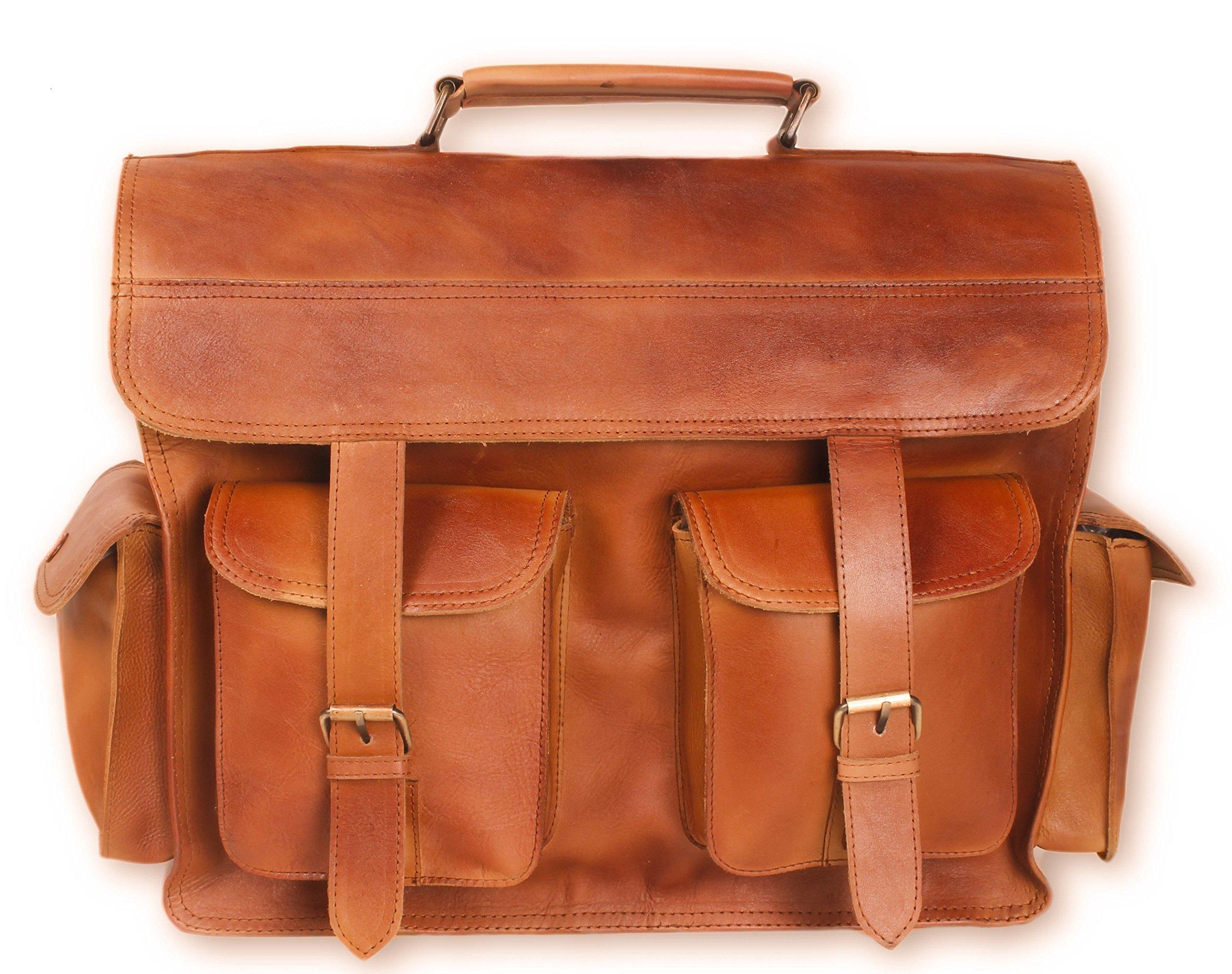 Artishus Vintage Handmade Leather Messenger Bag for Laptop | Briefcase Satchel Bag