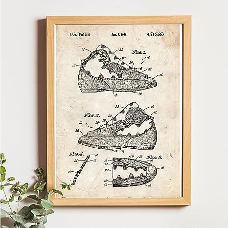 Nacnic Vintage - Pack de 4 Láminas con Patentes de Escalada. Set de Posters con inventos y Patentes Antiguas. Elije el Color Que Más te guste. Impreso ...