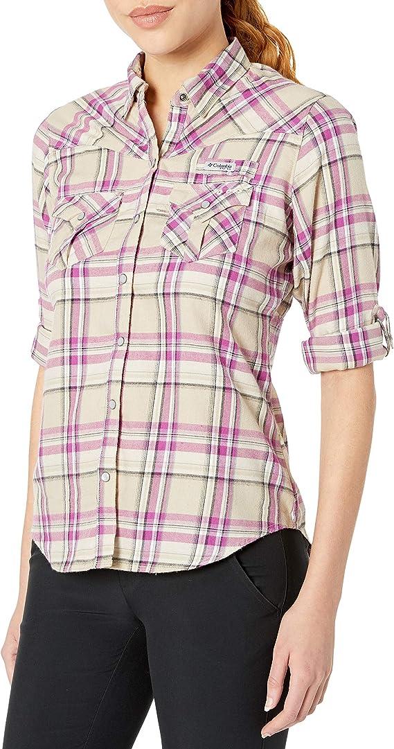 Columbia 哥伦比亚 Beadhead 速干 女式法兰绒衬衫 S码1.9折$13.37 海淘转运到手约¥109