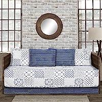 Lush Decor Monique Reversible Print Pattern Lavender Quilt Set