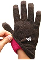 SwypeGloves Dual tone Brown/Black Texting Gloves - 'Grand Canyon' Touchscreen Gloves