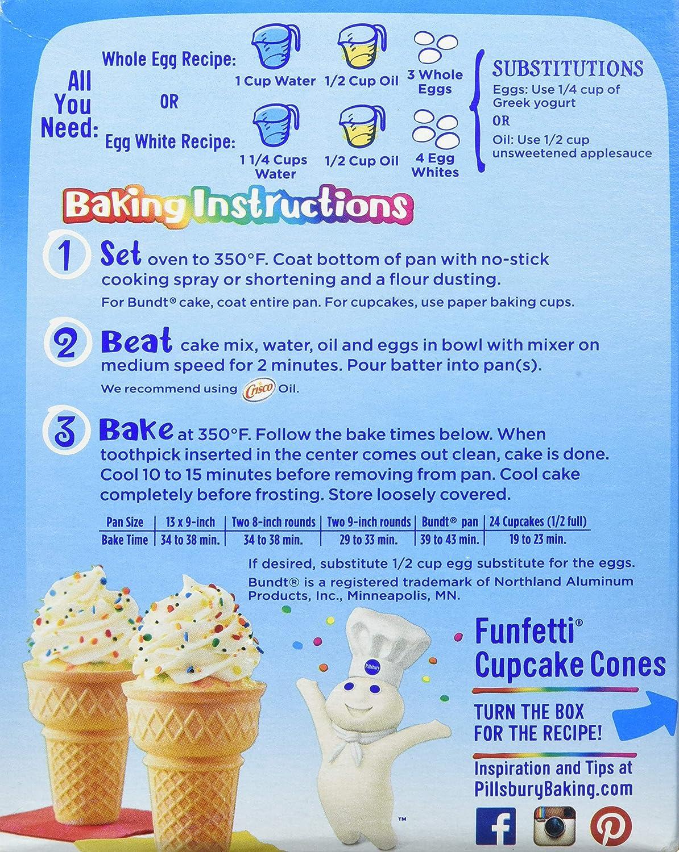 Pillsbury Funfetti Cake Mix, 15.25 oz: Amazon.es ...