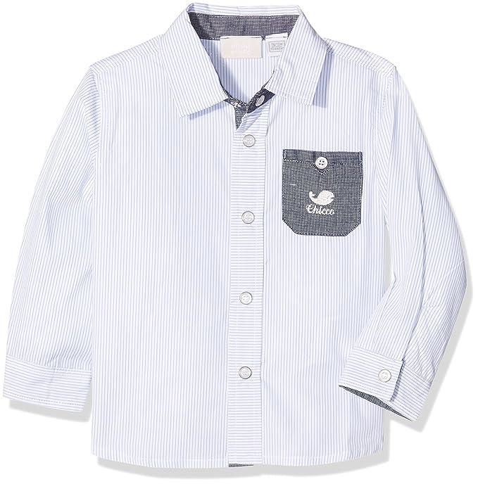 Chicco 9054344, Camisa Bebé-Niños, Turquesa (Bianco/BLU ...