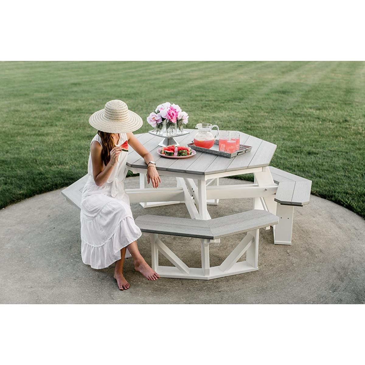 Wildridge Recycled Plastic Octagon Picnic Table - Ships in 10-14 Business Days